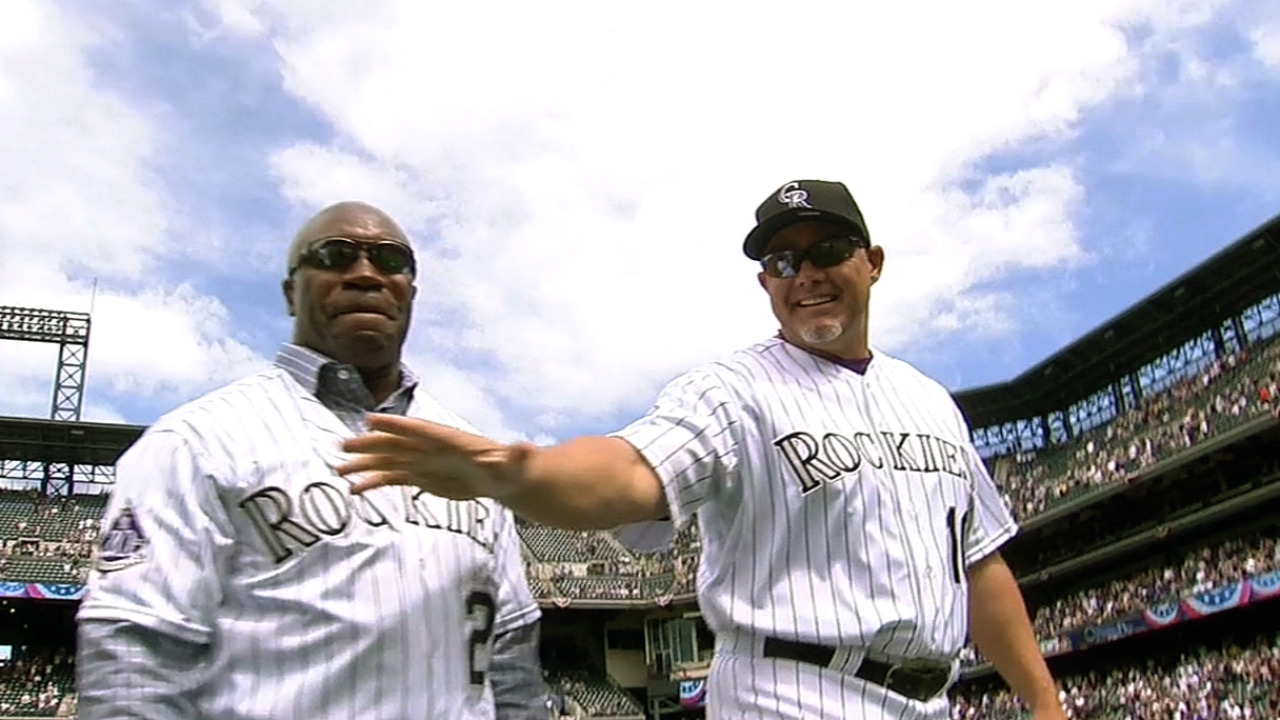 Rockies celebrate 20th anniversary before opener
