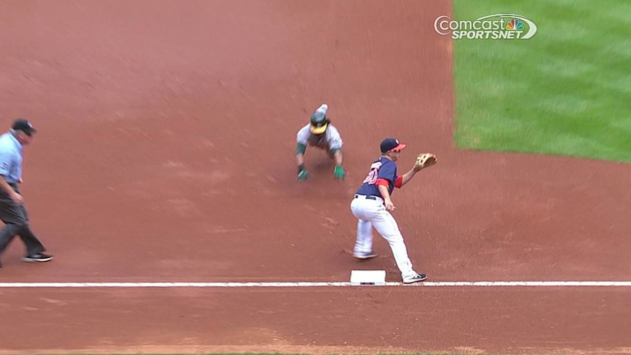 Corporan looking for Peacock to pound strike zone