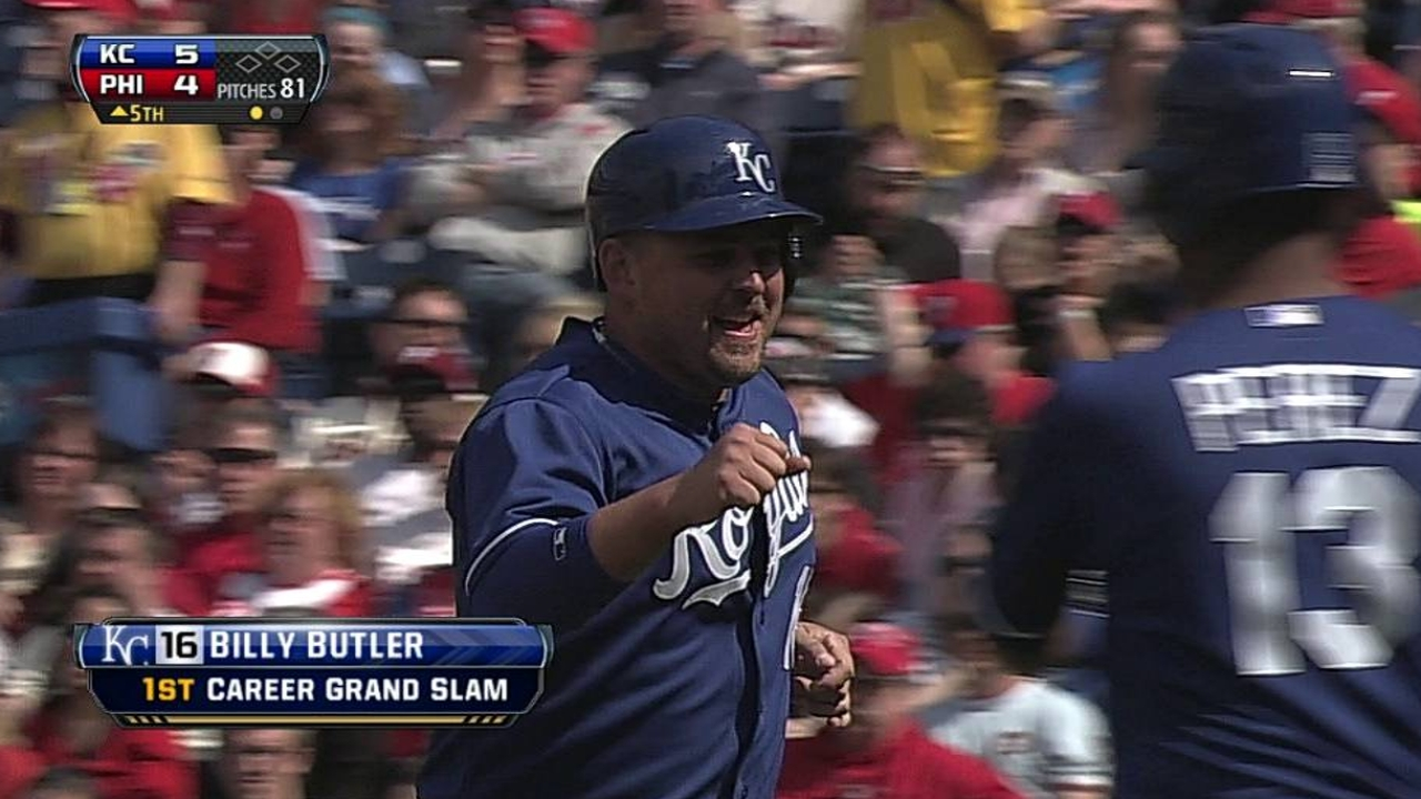 After video review, Butler awarded grand slam