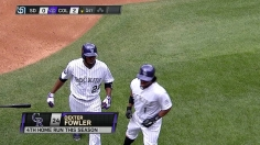Fowler, Chacin lead Rockies to sweep of Padres