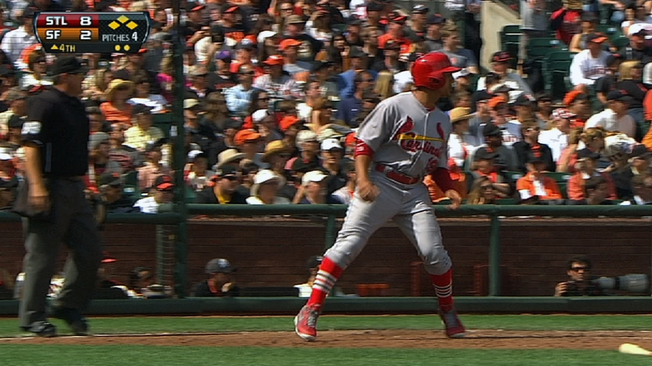Cardinals ride huge inning to series victory