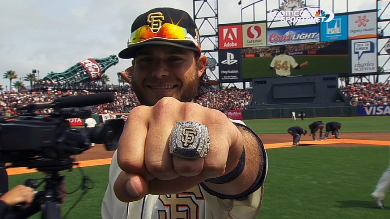 Giants treasure receiving second champs ring