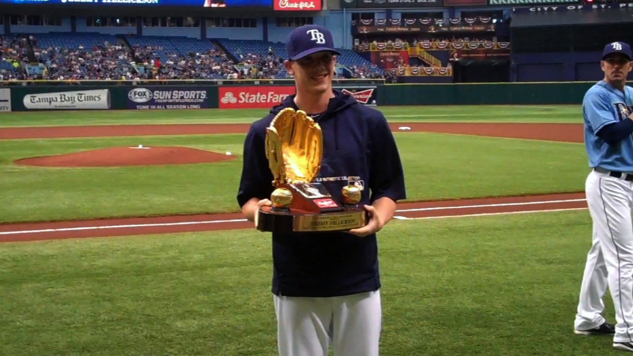 Hellickson presented his Gold Glove Award
