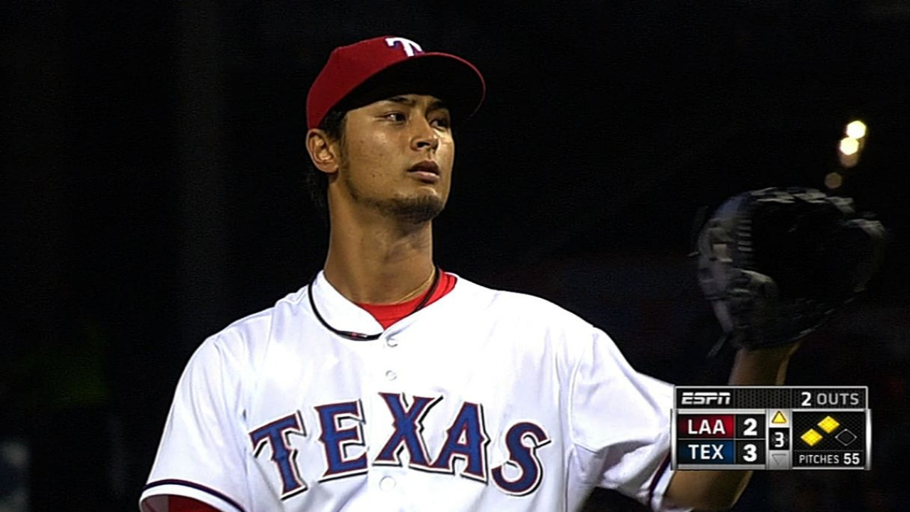 Far from perfect, Darvish battles to beat Halos