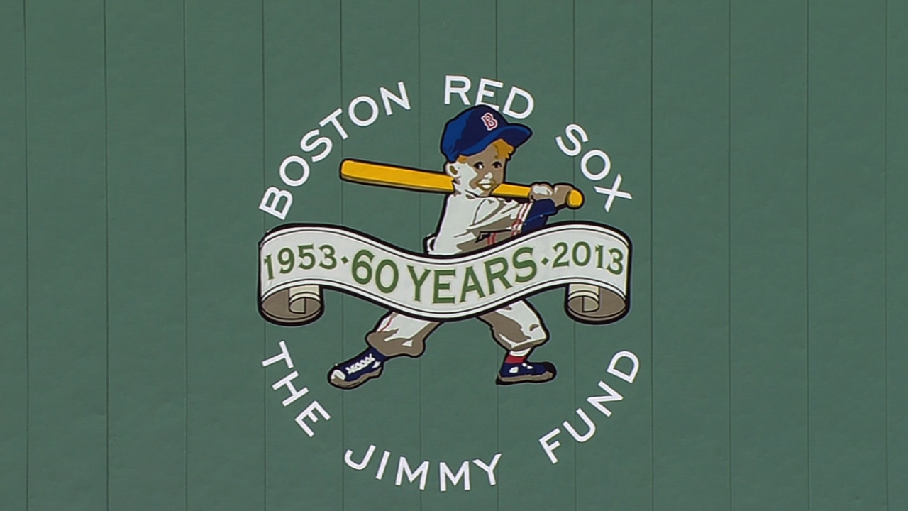 Red Sox honor Jimmy Fund at home opener