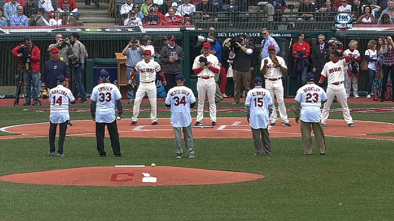 With first pitches, fathers show pride for sons