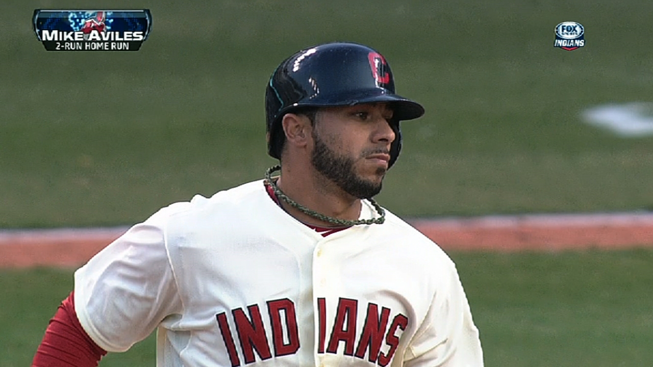 Aviles providing Tribe versatility, production off bench