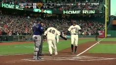 Pence's homer enough for Bumgarner, Giants