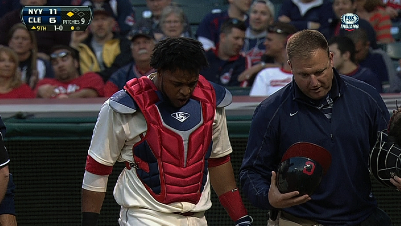 Tribe relieved; Santana's thumb merely bruised