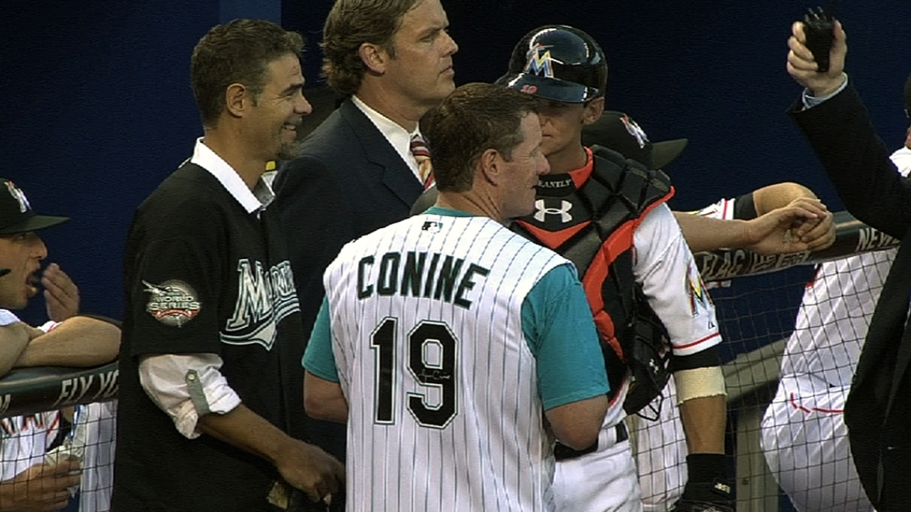 Lowell, Conine part of Marlins' home opener