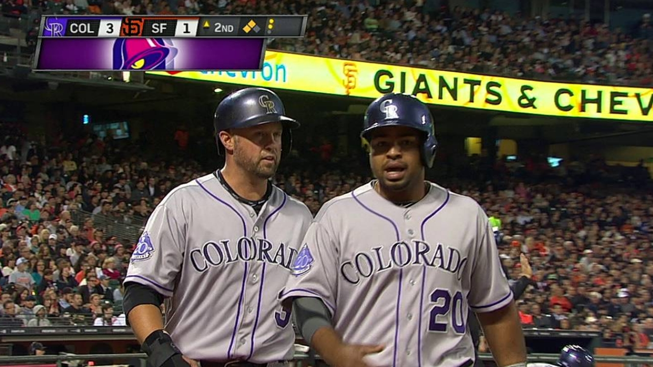 Rockies can't hold on after big inning