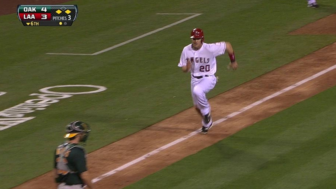 Angels offense struggling early with runners on base