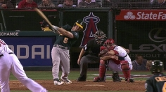 A's ride three homers to sixth straight win