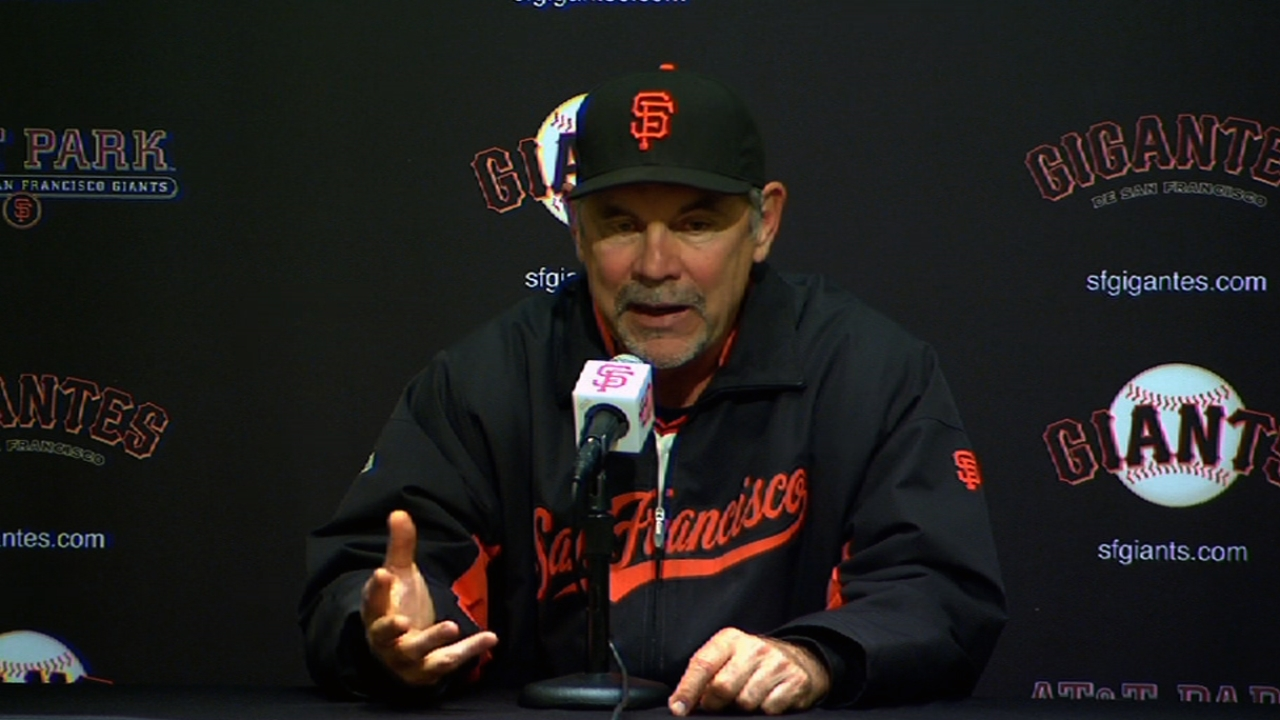 In bad weather, Bochy not stressing over starters