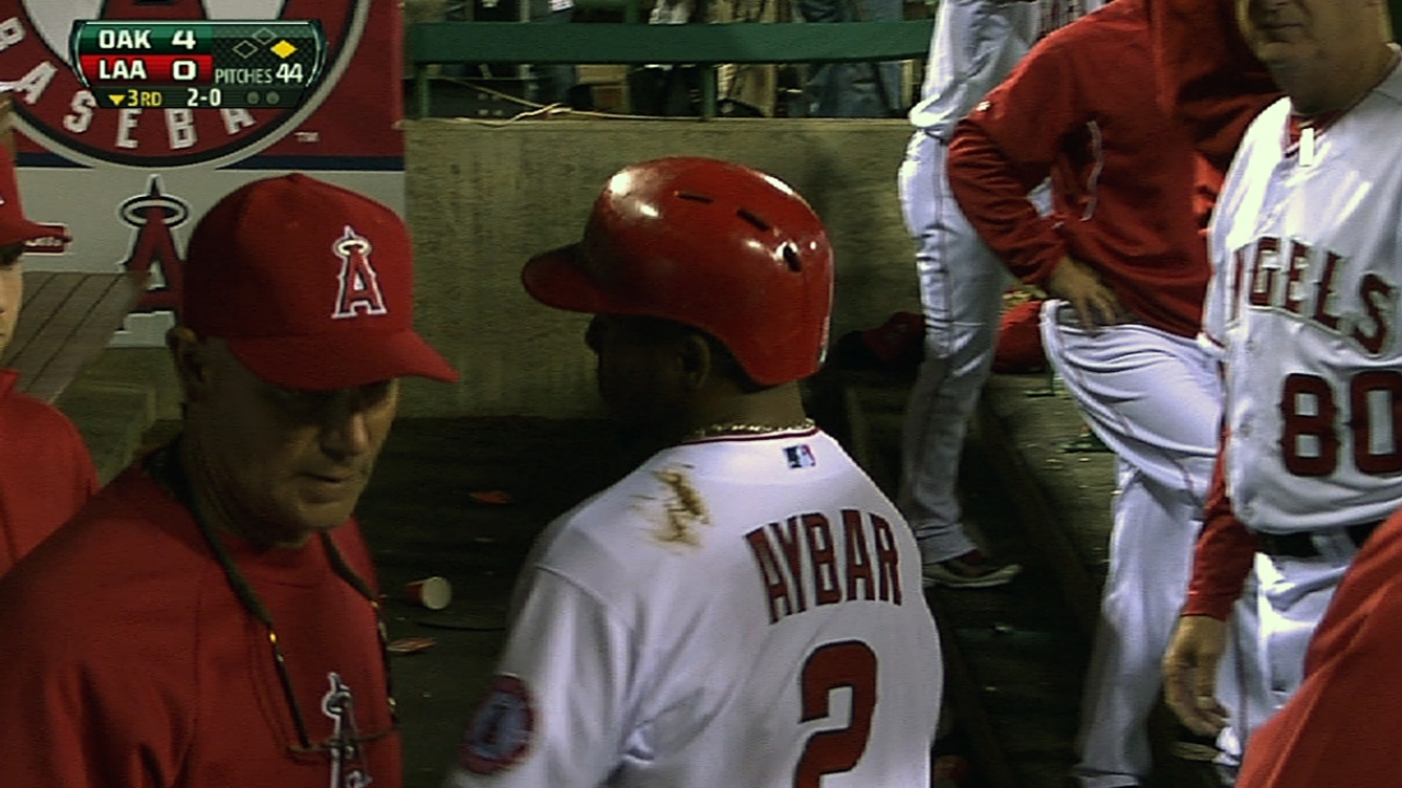 Aybar likely to sit Wednesday with bruised heel