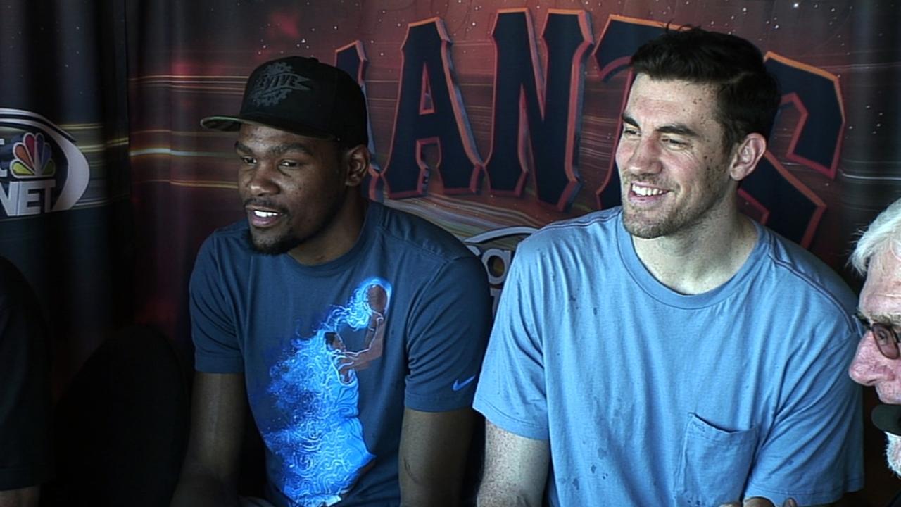 NBA stars Durant, Collison visit AT&T Park