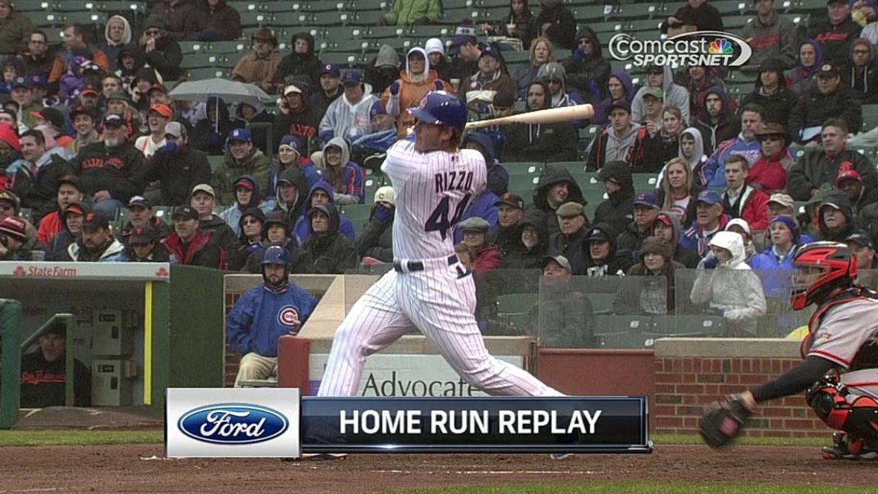 Rizzo seeing success swinging at first pitch