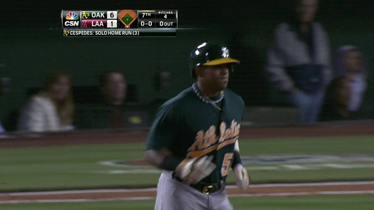 Cespedes ready to stabilize middle of A's lineup