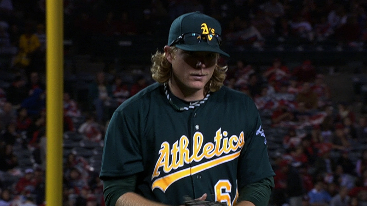 A's make it eight straight behind Griffin's gem