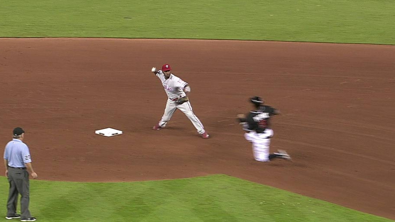 Phillies taking advantage of double-play balls