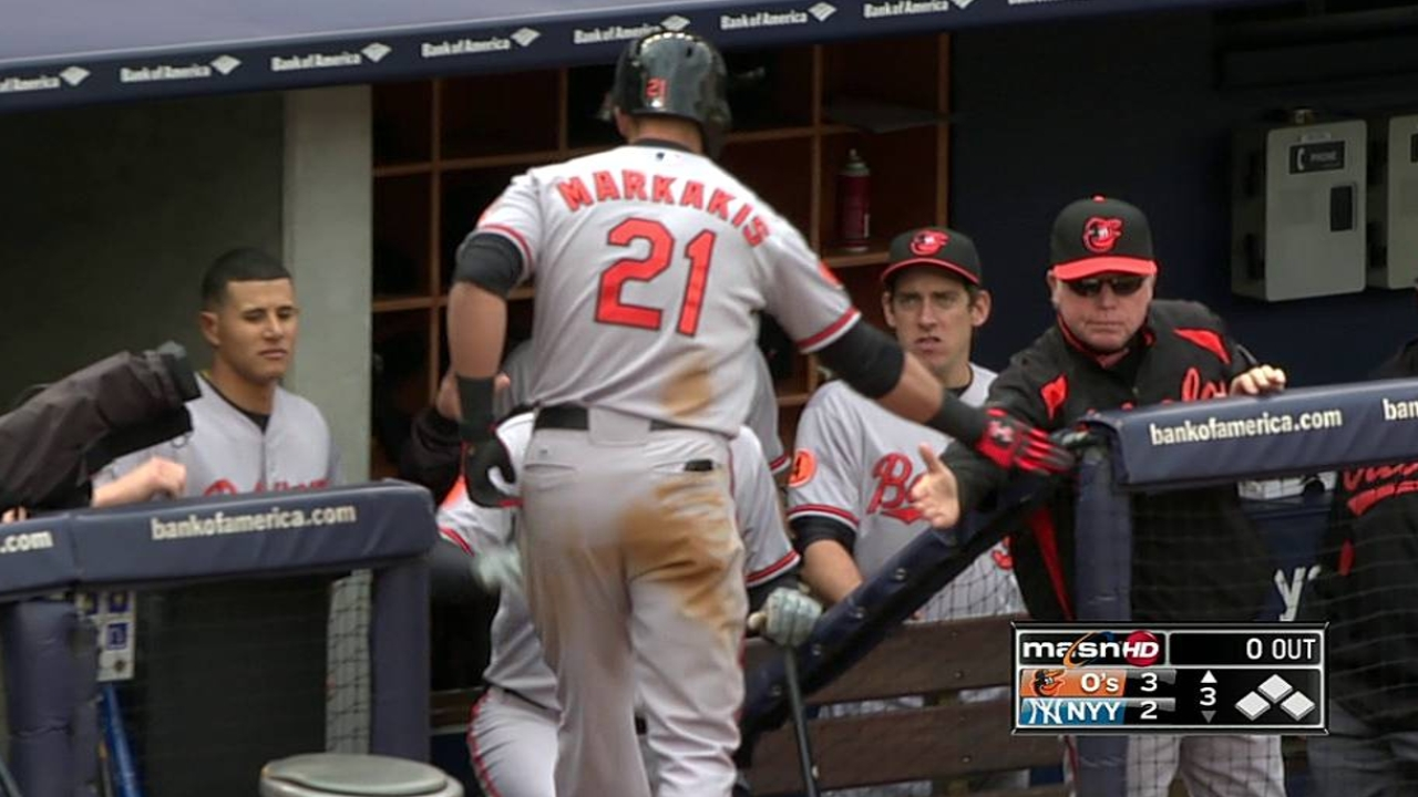 Orioles sonaron tres HR para doblegar a Yankees