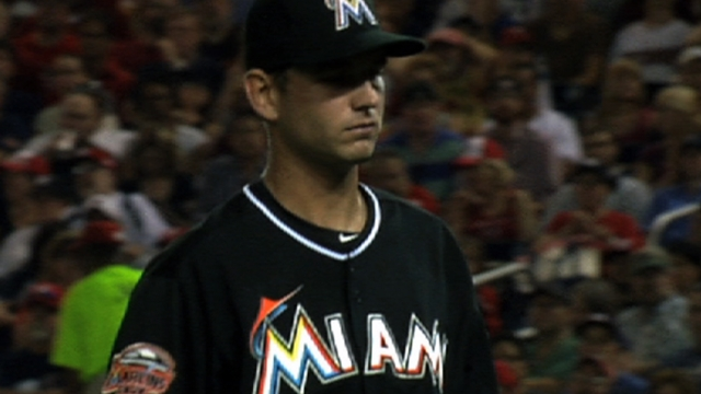 Turner continues battle for spot on Marlins' staff