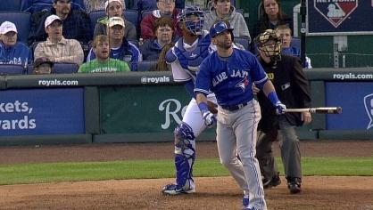 Bautista hits a two-run shot