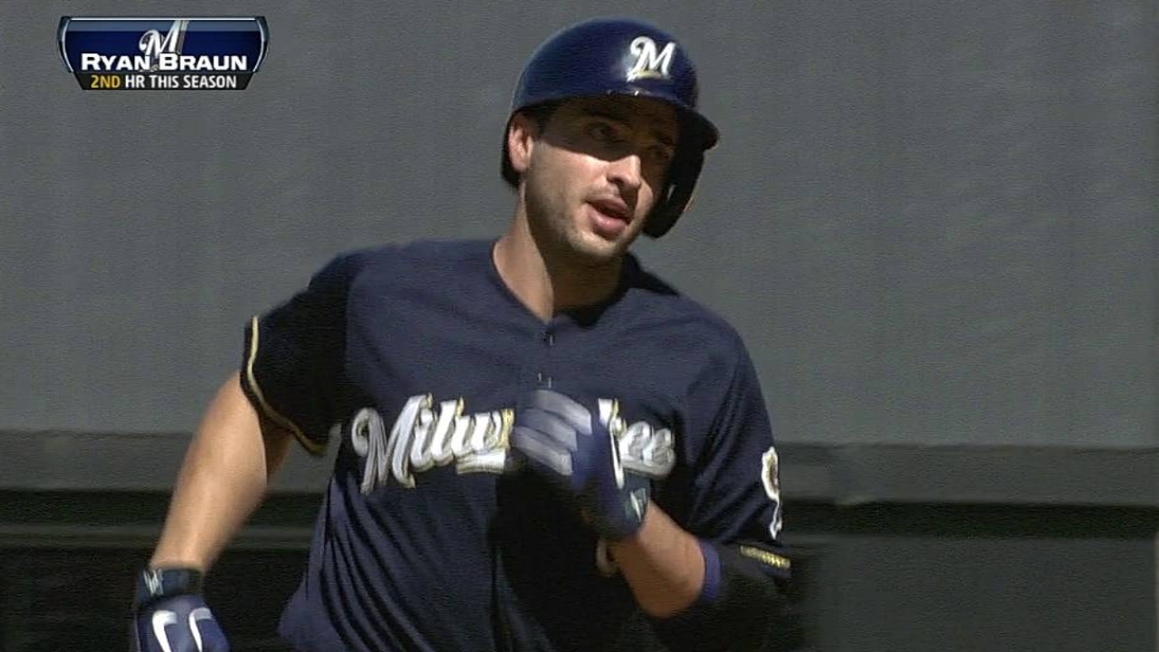 Braun not concerned over hitting woes