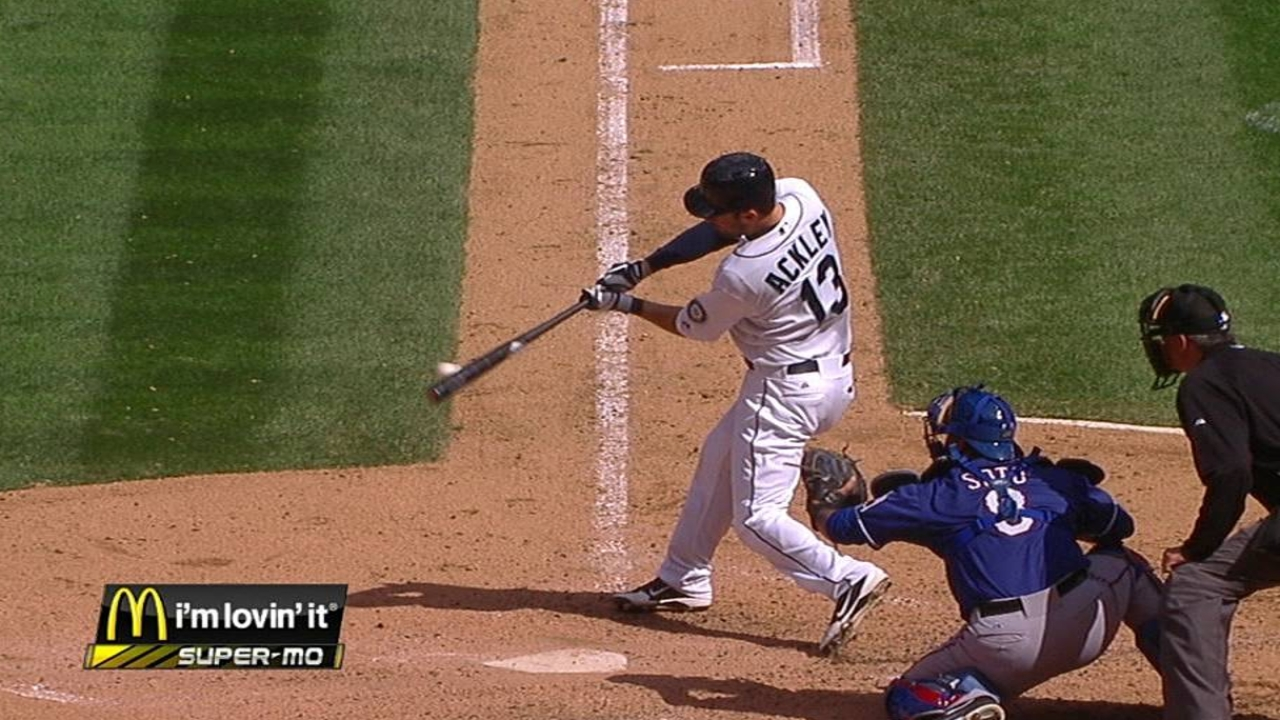 Ackley beginning to turn it around at the plate