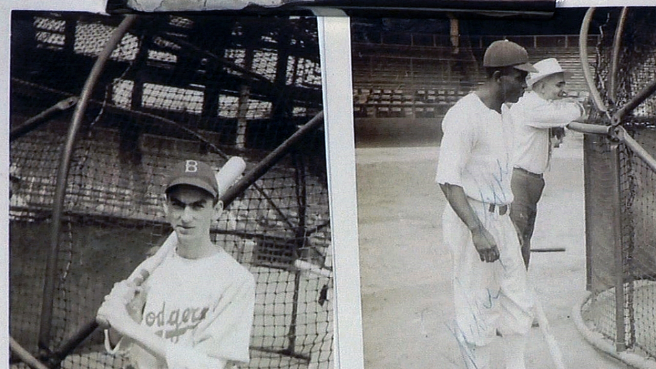 Former Dodgers ball boy helps honor Jackie