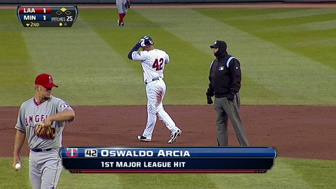 Arcia back with Twins after minor absence