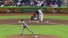 Big bats back Sanabia as Marlins top Nats