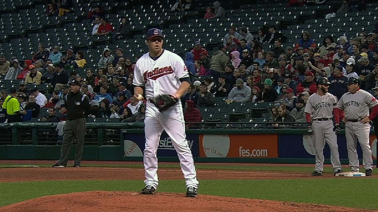 Tribe can't dig out of Ubaldo's early hole