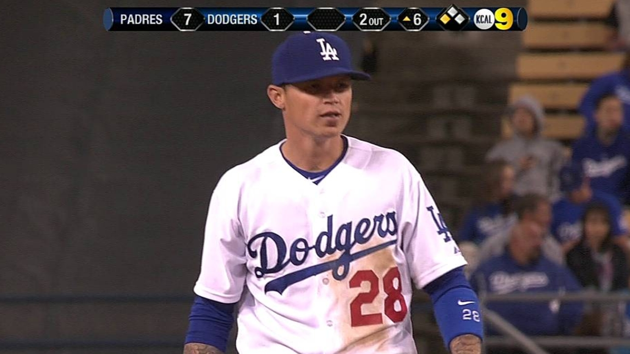 Depleted Dodgers drop third straight