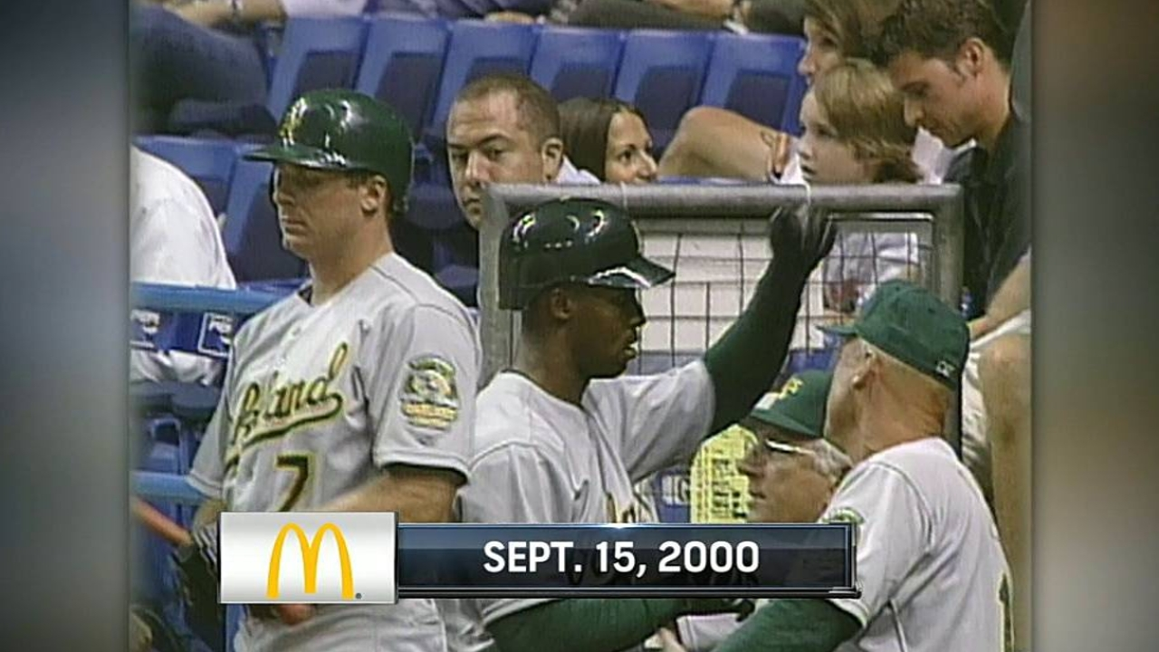 Porter recalls first career homer with A's