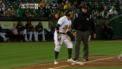A's hit three triples