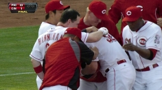 Worth the wait: Reds walk off in ninth inning