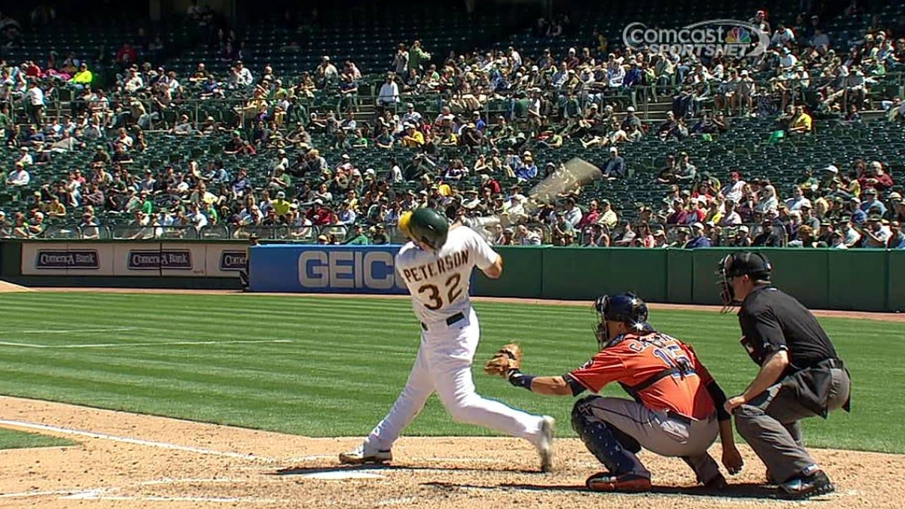 Peterson collects first Major League hit