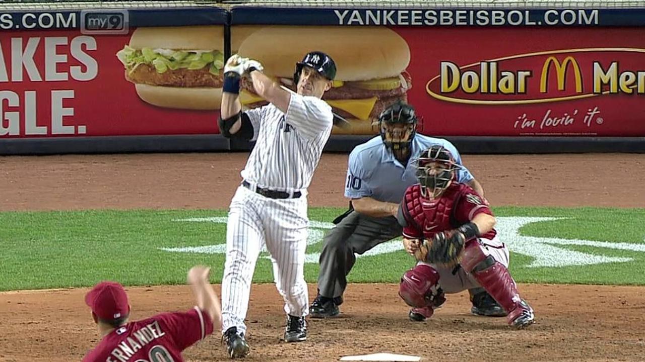 HR de Hafner decide victoria de Yankees vs. D-backs