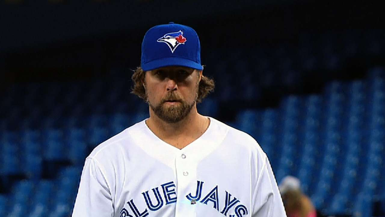 Blue Jays hopeful Dickey can make next start