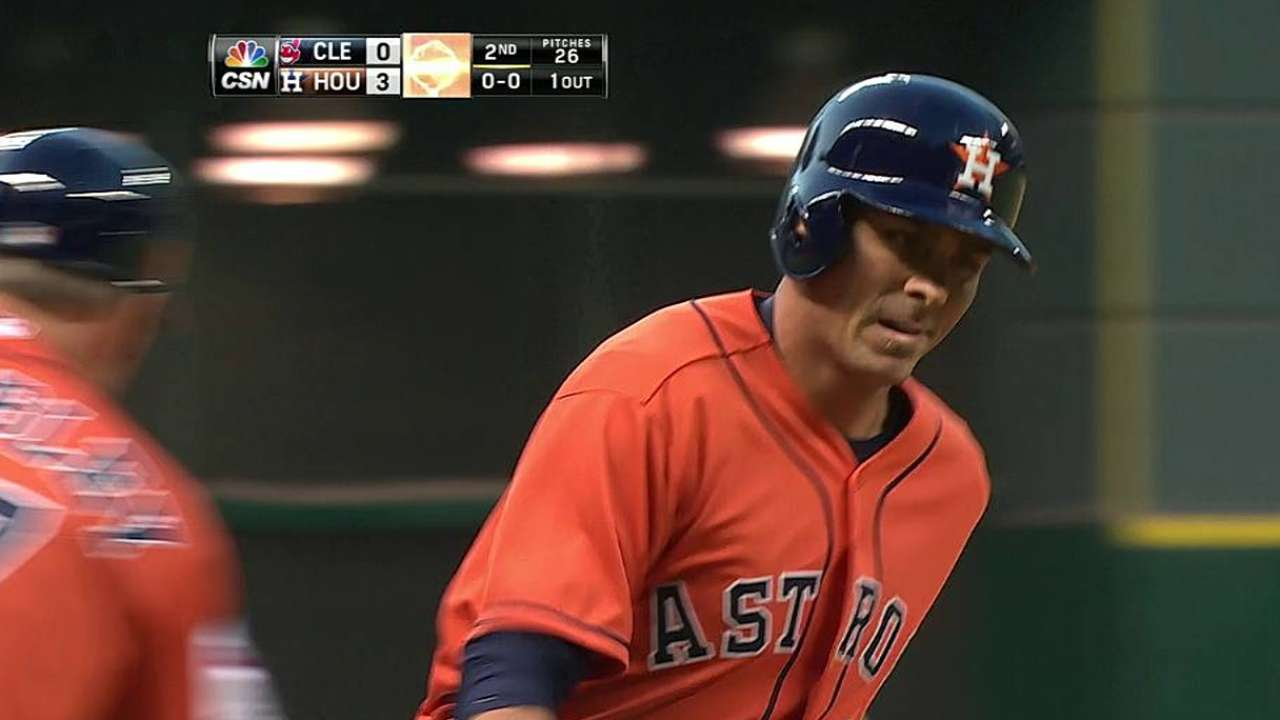 Back-to-back homers power Astros past Tribe