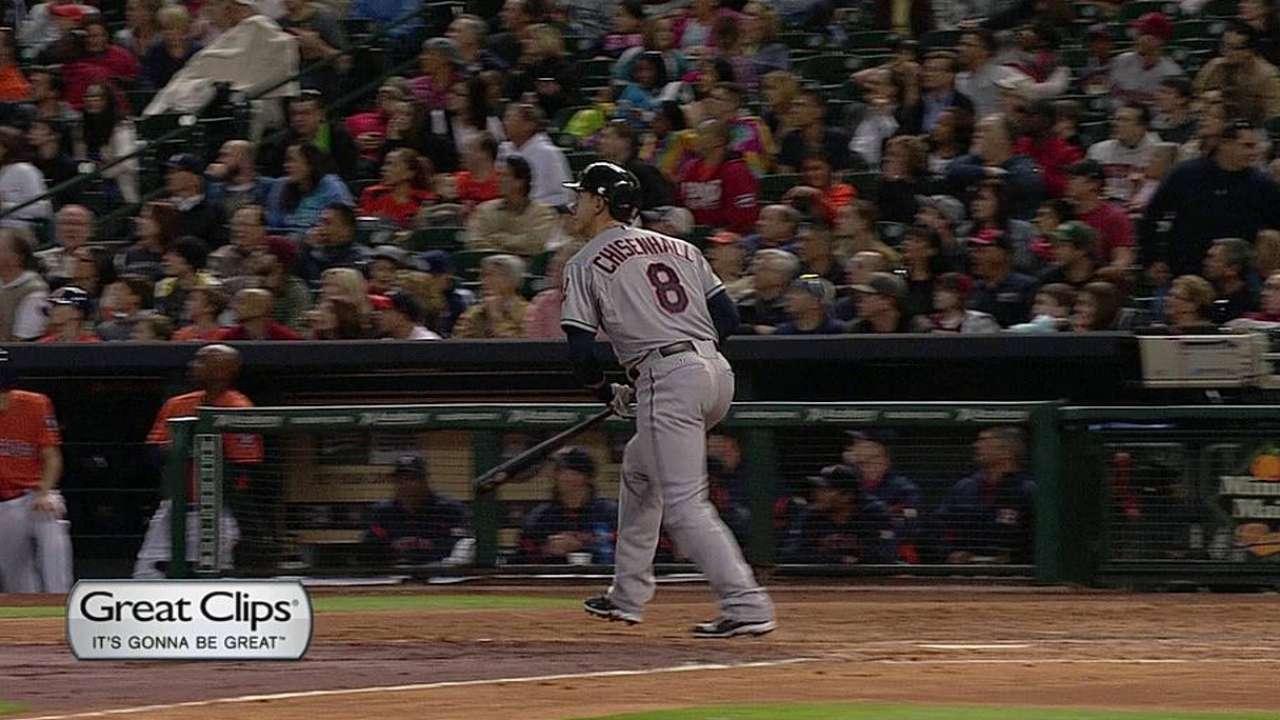 Chisenhall's homer not enough against Astros