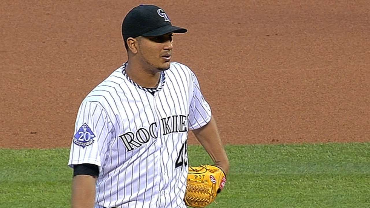 Chacin leaves game with oblique stiffness