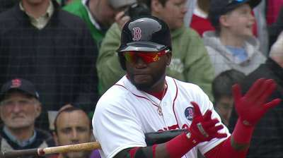 Ortiz returns to lineup, bats cleanup vs. KC