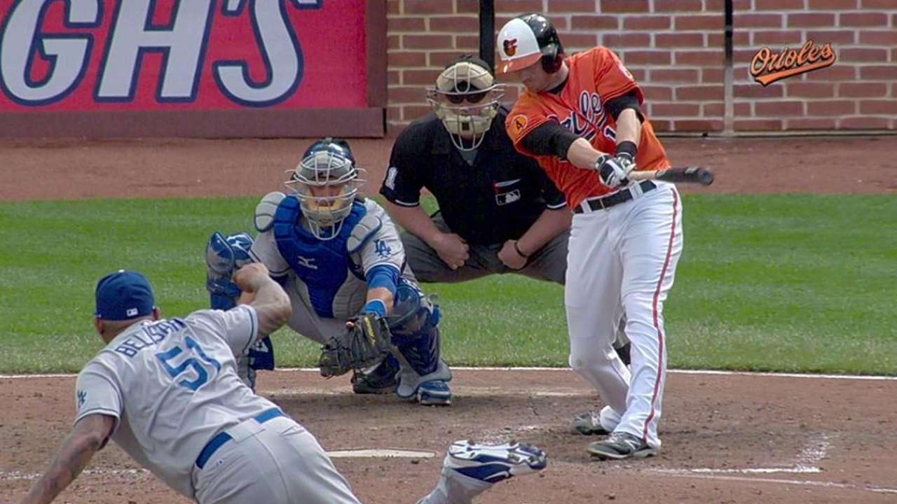 Orioles barren a los Dodgers en la doble cartelera