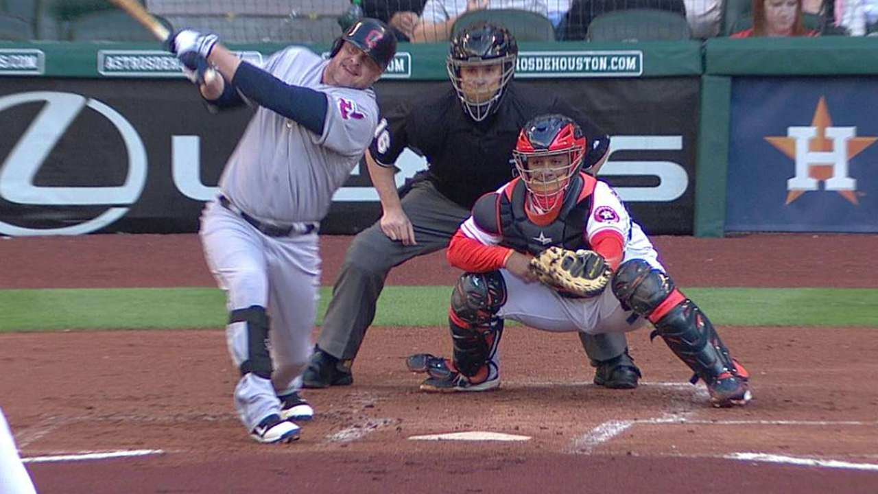 Giambi embracing role as veteran mentor
