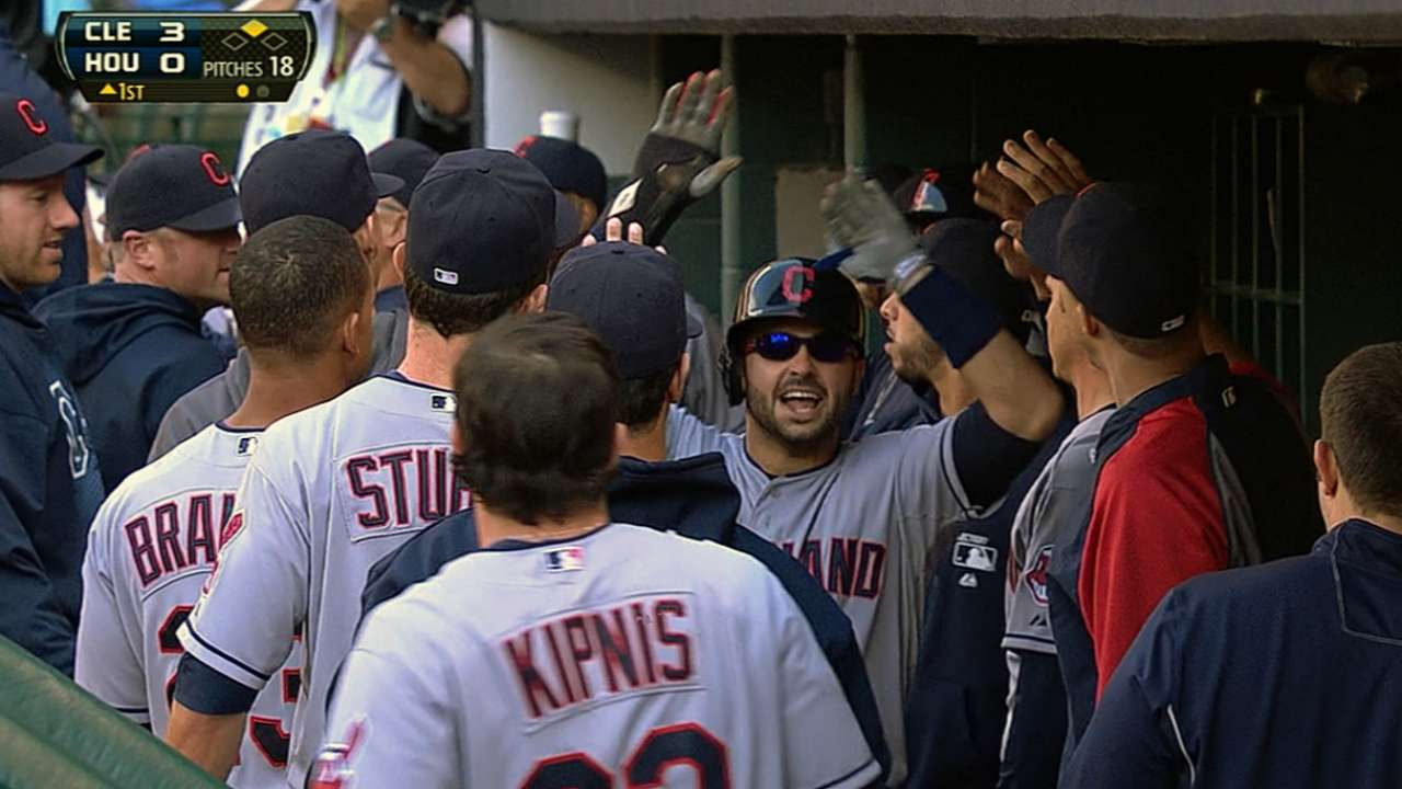 Indians score 19 runs in rout of Astros