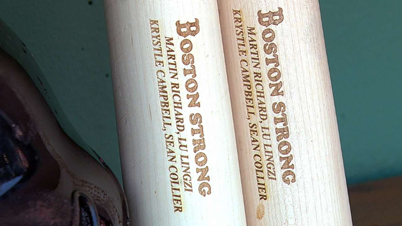 Gomes swings bats to honor Boston victims