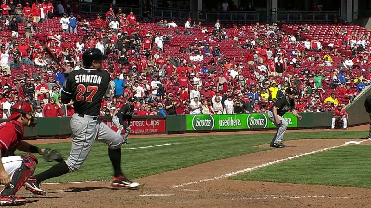Stanton looks to get bat, All-Star bid going