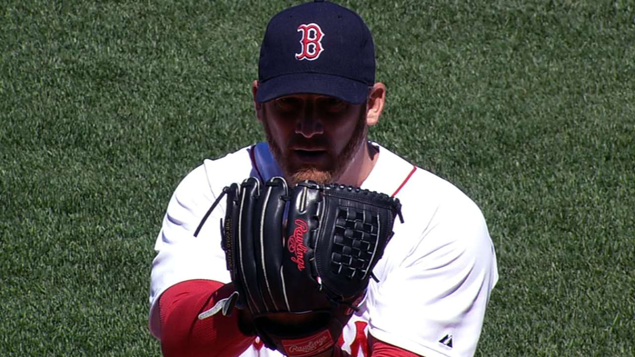 Dempster fans eight, but Boston drops Game 1